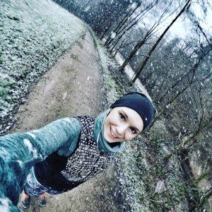 Laufen bei Schneefall