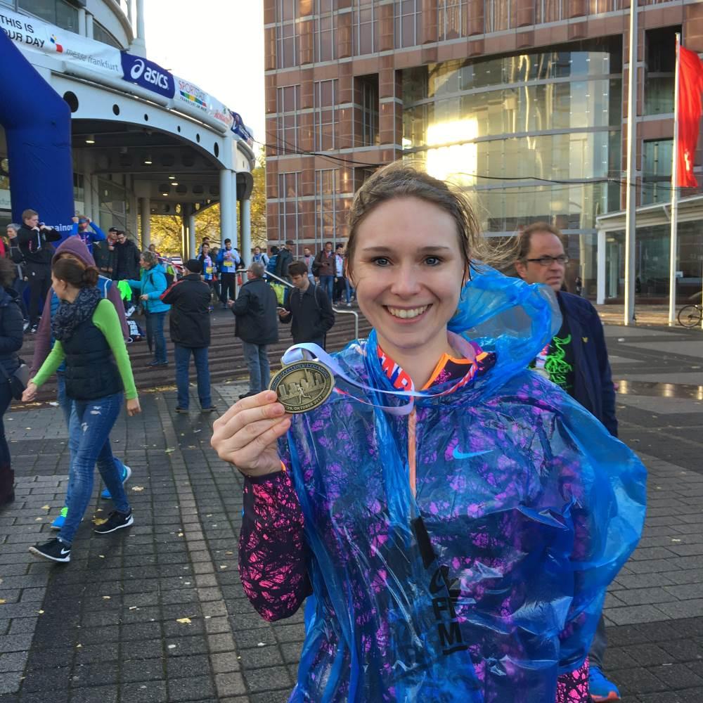 Frankfurt Marathon Finisherfoto