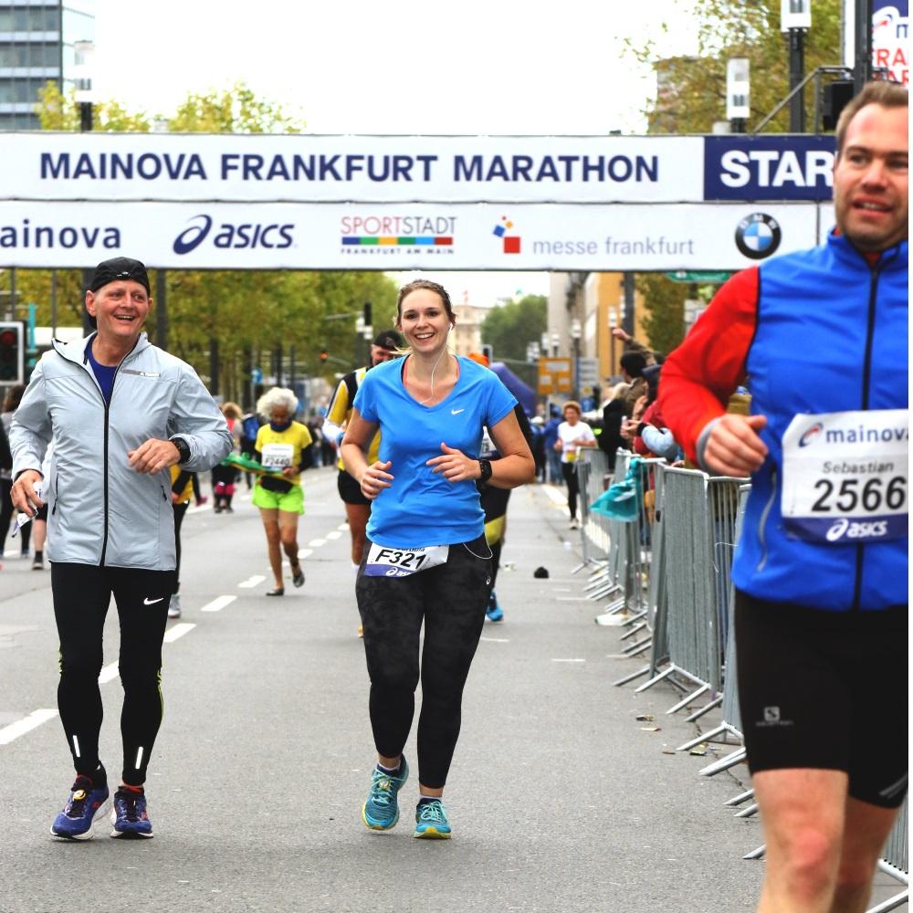 Frankfurt Marathon Zielgerade